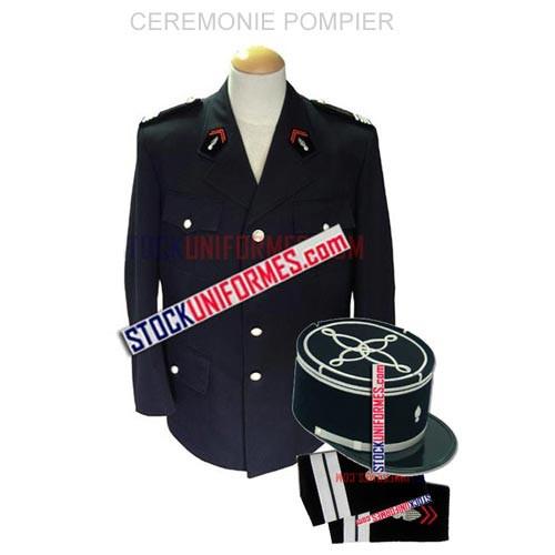 Pompiers uniforme de cérémonie
