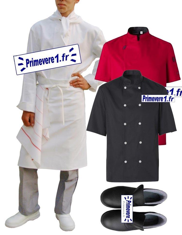 boutique Primevere.fr - catalogue tenue cuisinier