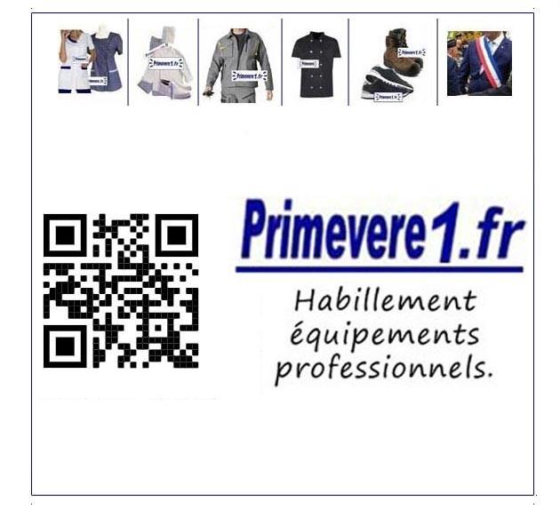 lien QR CODE avec Primevere1.fr   plateforme vêtements et chaussures professionnels et de travail