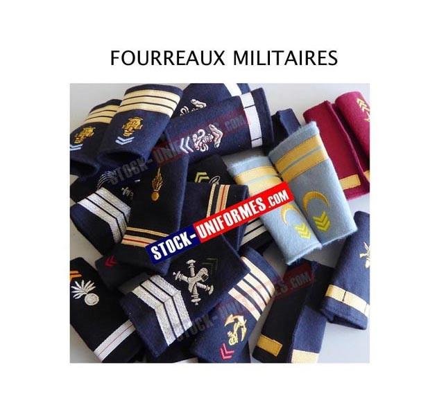Fourreaux de grade militaires - toutes armes et tous grades - 2e classe à général