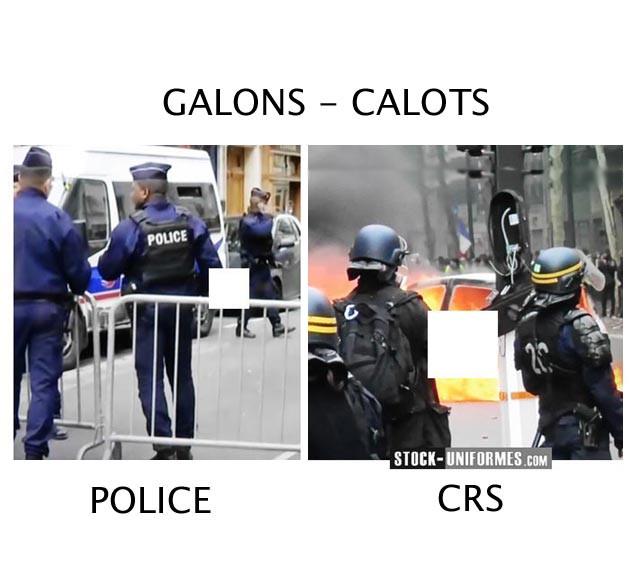 Galon et calot Police Nationale et CRS (compagnie républicaine de sécurité)