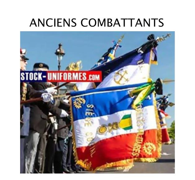 Accessoires anciens combattants - béret militaire - calots militaire - gants blancs - porte drapeau