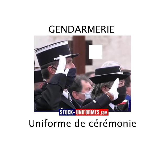 uniformes et accessoires de cérémonie Gendarmerie - képi - chemise - boutons - insigne de région - c