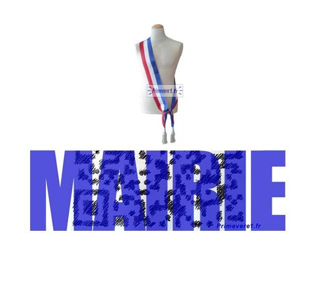 Echarpe de Maire - Echarpe de Maire Adjoint - Echarpe de Conseiller Municipal - Insigne pour Maire -