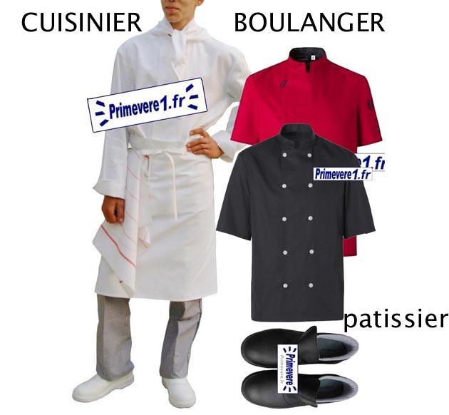 Tenue cuisinier - tenue boulanger - tenue pâtissier - tenue traiteur